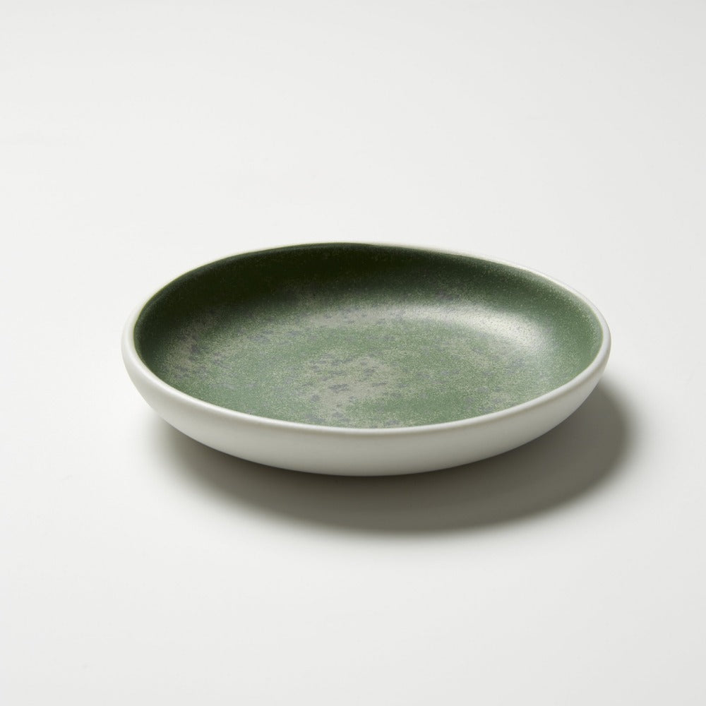 Studio Enti for Footage Small Dish - Green Speckle