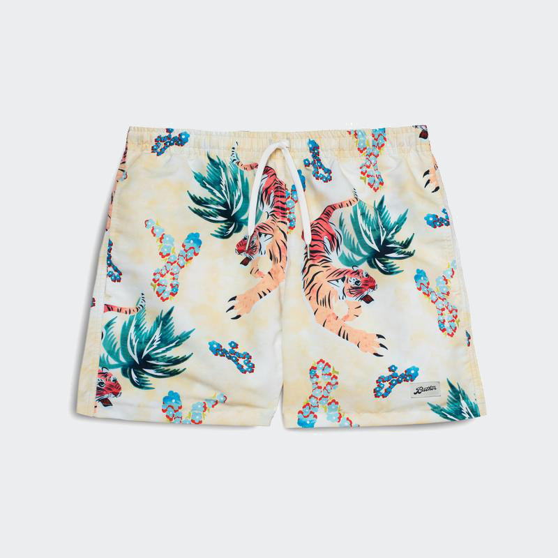 Bather Swim Shorts - Hawaiian Tiger