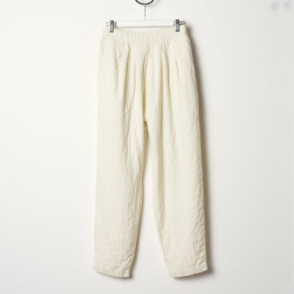 Black Crane Carpenter Pants - Cream