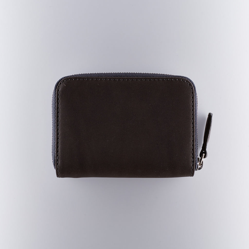 Mismo Leather Zip Wallet - Anthracite
