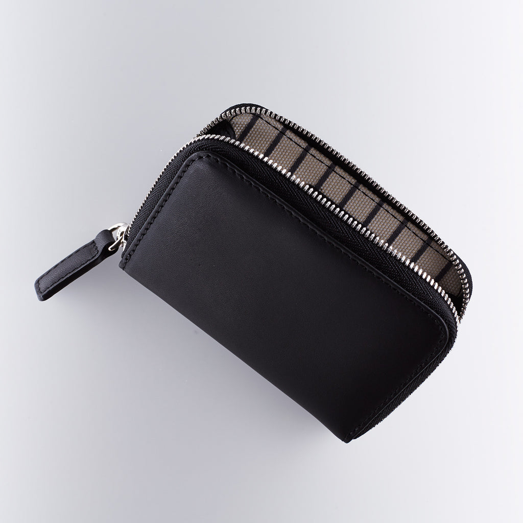 Mismo Leather Zip Wallet - Black