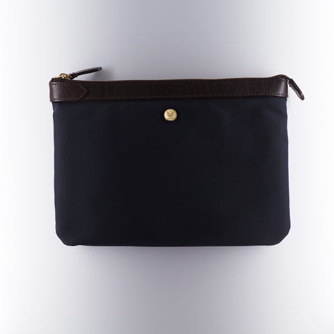 M/S Pouch Large - Navy/Dark Brown
