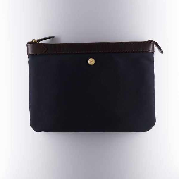 Mismo M/S Pouch - Navy/Dark Brown