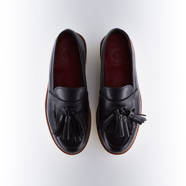 Grenson Clara Tasseled Loafer in Black