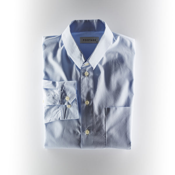 Footage Shirt - Small Collar - Light Blue