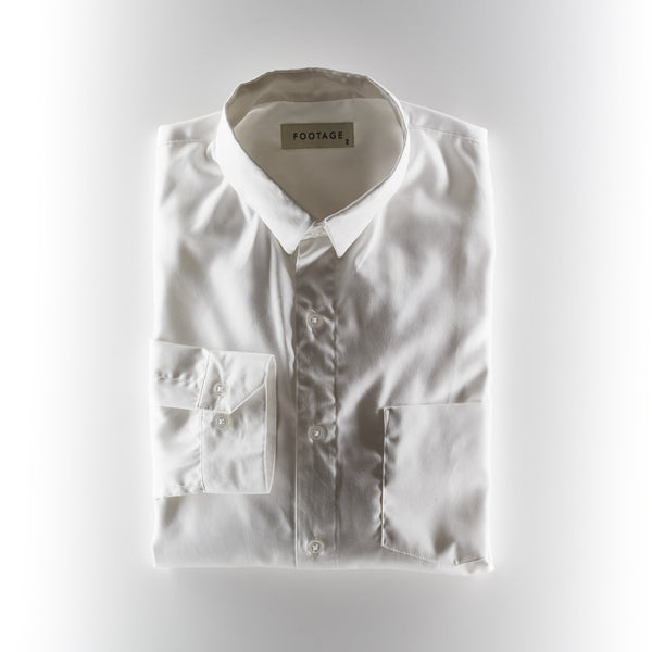 Footage Small Collar Shirt - White