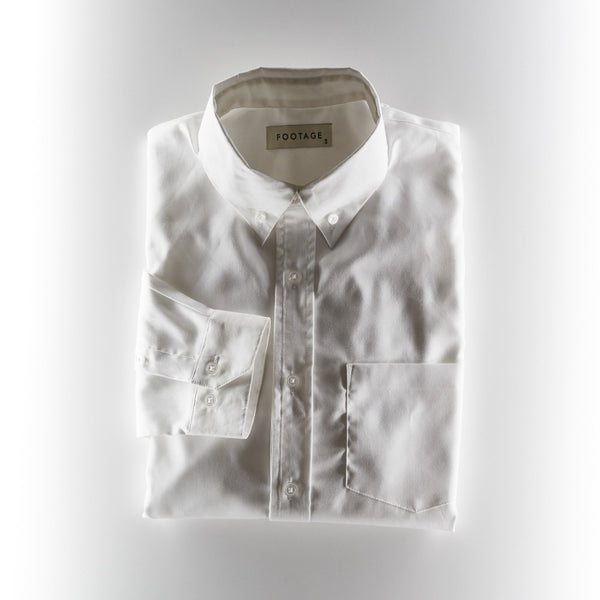 Footage Oxford Collar Shirt - White