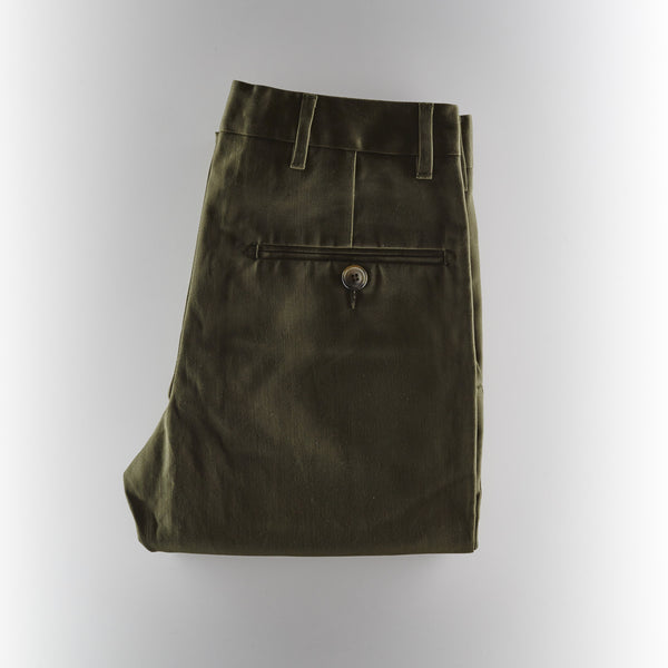 Footage Slim Chino Pants - Olive Green