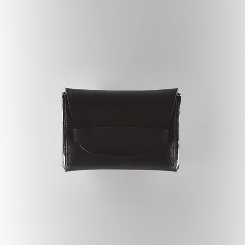 Flap Wallet - Black Horween Chromexcel Leather