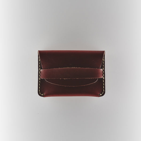 Makr Flat Slim Wallet - Oxblood Horween Chromexcel Leather