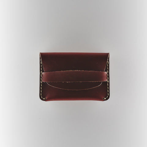 Flap Slim Wallet - Ox Blood Horween Chromexcel Leather