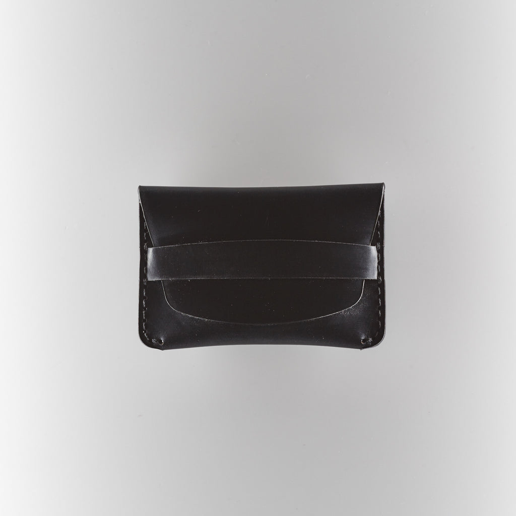 Makr Flap Slim Wallet - Black Horween Chromexcel Leather