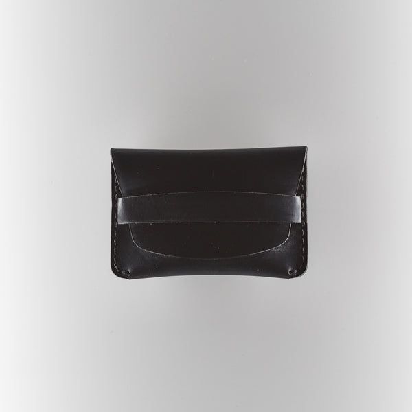 Flap Slim Wallet - Black Horween Chromexcel Leather