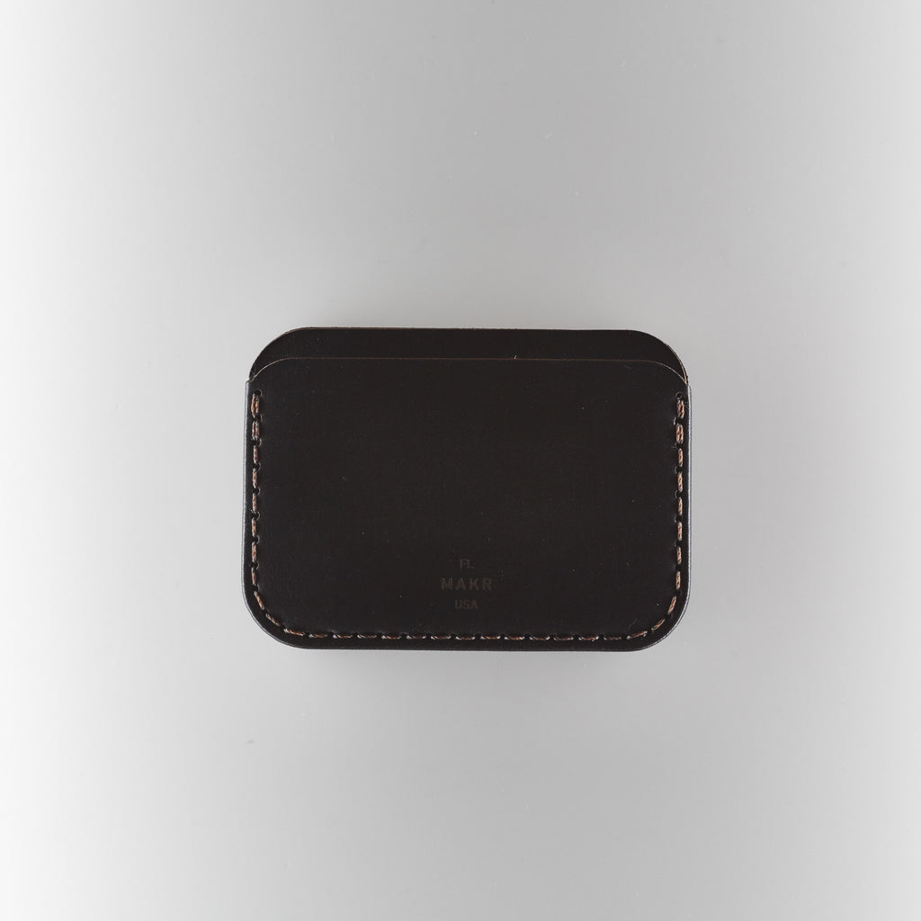 Makr Round Wallet - Black Horween Chromexcel Leather