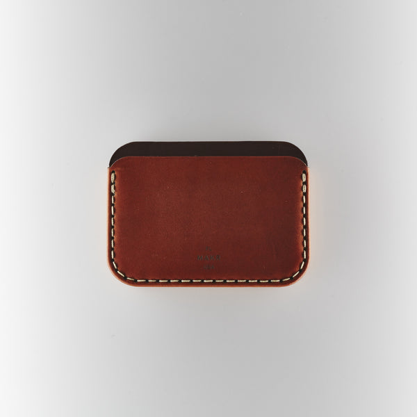 Makr Round Wallet - Saddle Tan Horween Leather