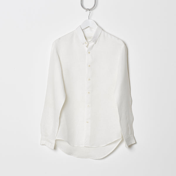 Footage Long Sleeve Linen Shirt White
