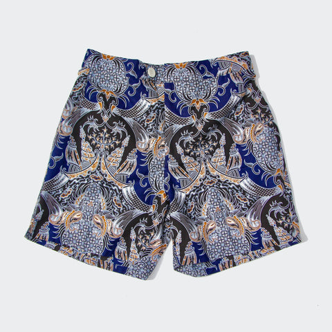 Straits Shorts - Navy/Gold Pineapples