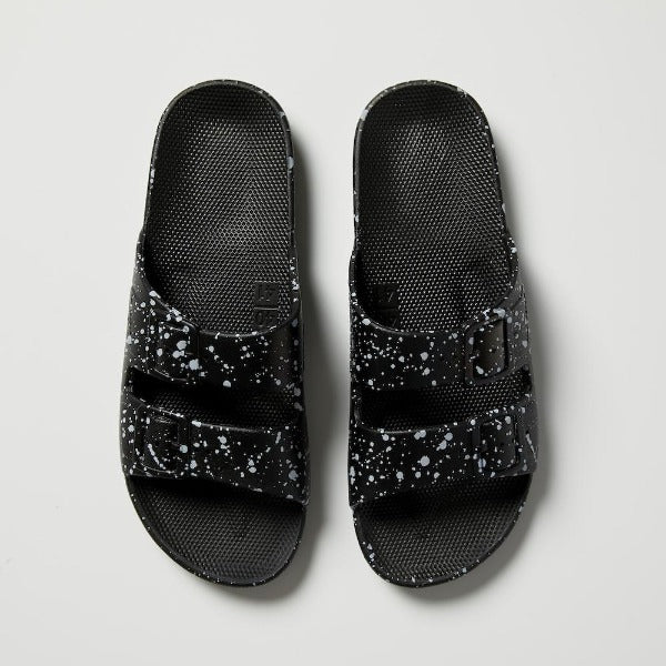 Freedom Moses Sandals - Black Splatter