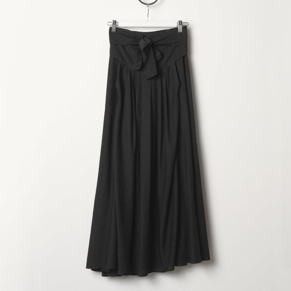 Black Crane Wrap Skirt - Faded Black