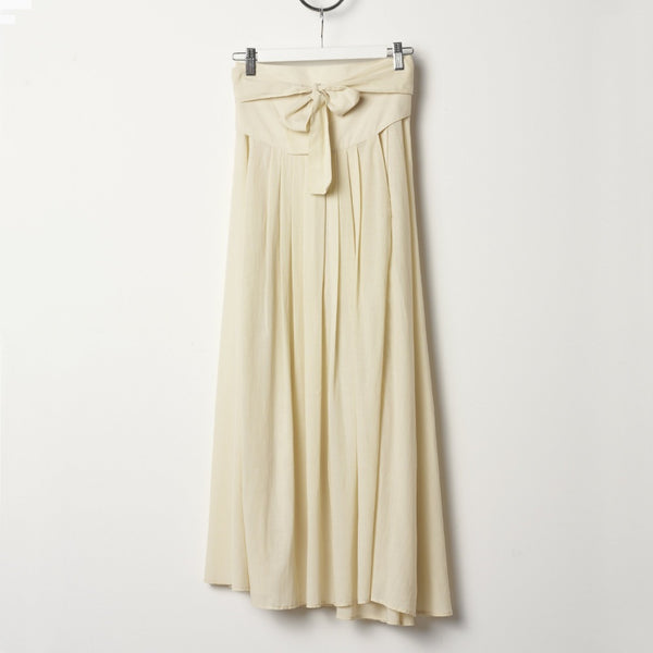 Black Crane Wrap Skirt - Cream