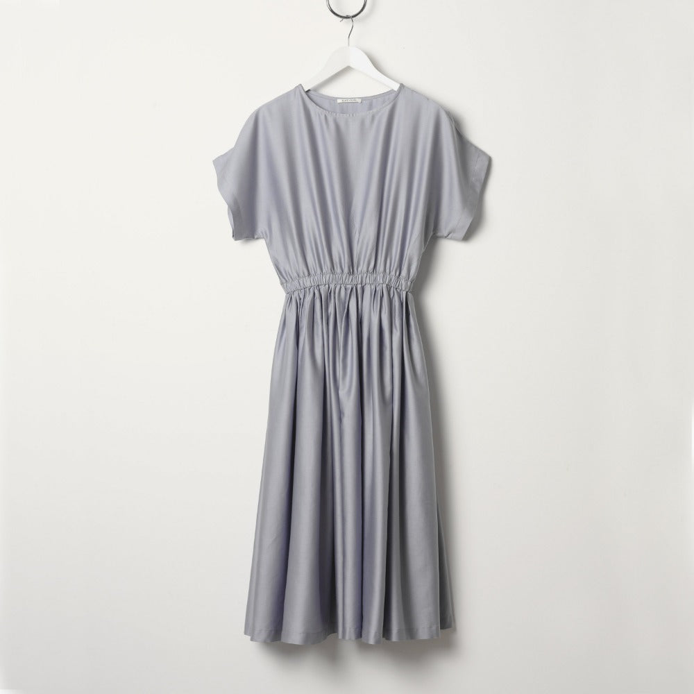 Black Crane Pleated Dress - Lavender
