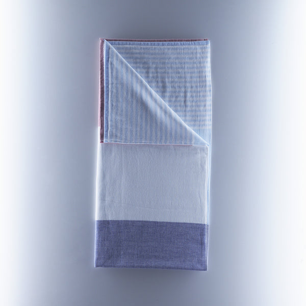 Yoshii Towel - Tri Tone Chambray - Blue/White/Red