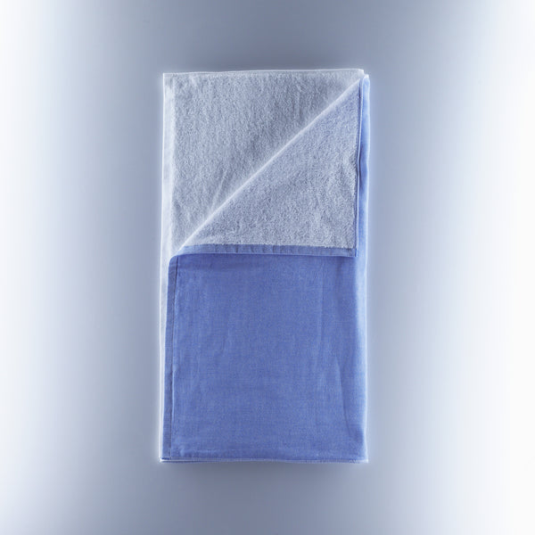Yoshii Towel - 2 Tone Chambray - Blue/White
