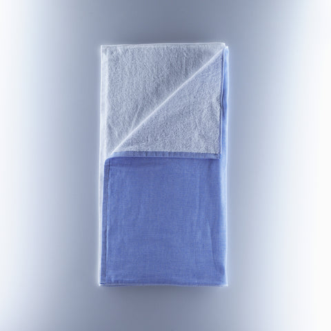 Yoshii Towel - 2 Tone Chambray - White/Blue