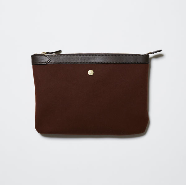 Mismo M/S Pouch Large - Rust/Dark Brown