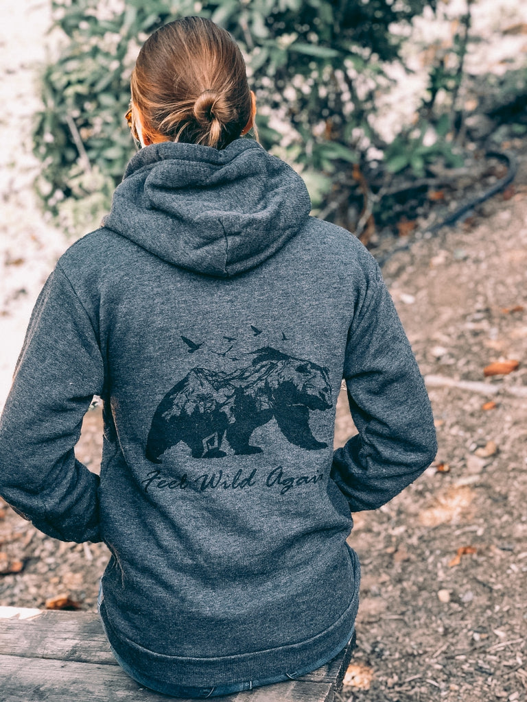Bear graphic RECYCLED PLASTIC Hoodie