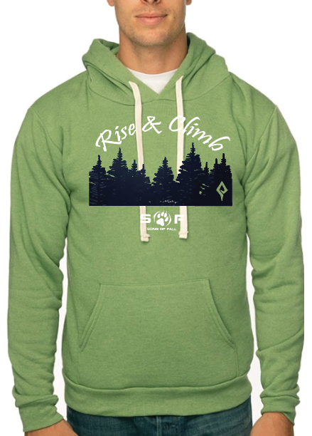 "Men's SONS of FALL ""Rise and Climb"" Recycled Plastic Hoodie"