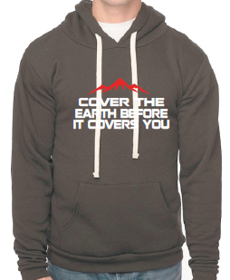 Men's Cover the earth inspiration fleece hoodie