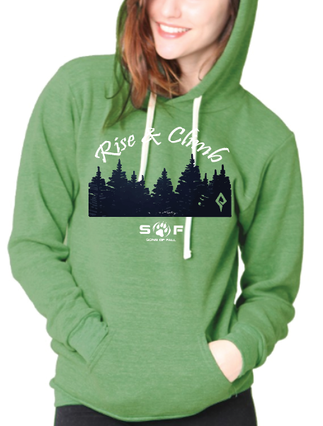 "Women's SONS of FALL ""Rise and Climb"" Recycled Plastic Hoodie"