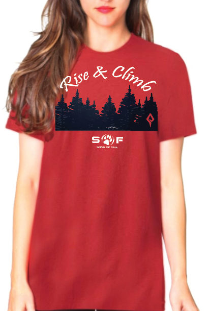 "Women's SONS of FALL ""Rise and Climb"" Bamboo Graphic Tee"