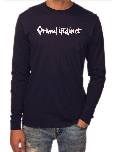 Primal instinct ORGANIC COTTON long sleeve logo tee