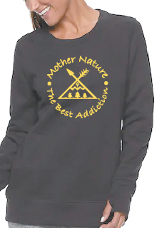 Woman's Nature. Best addiction-Inspirational crew neck