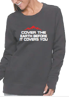 Women's Cover the earth-Inspirational crew neck