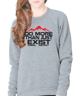 Women's Do more-Inspirational crewneck