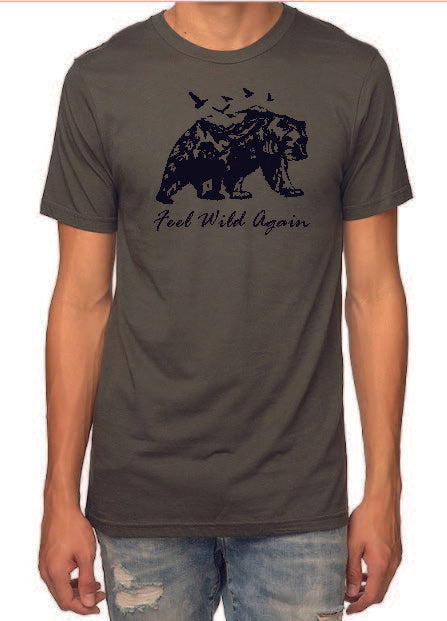 Bear graphic HEMP T-shirt