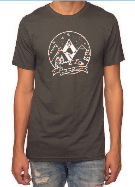 Mountain graphic HEMP T-shirt