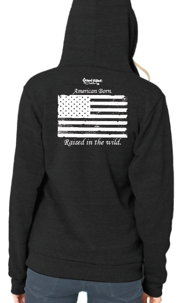 "Women's SONS of FALL ""American Born"" Recycled Plastic Hoodie"