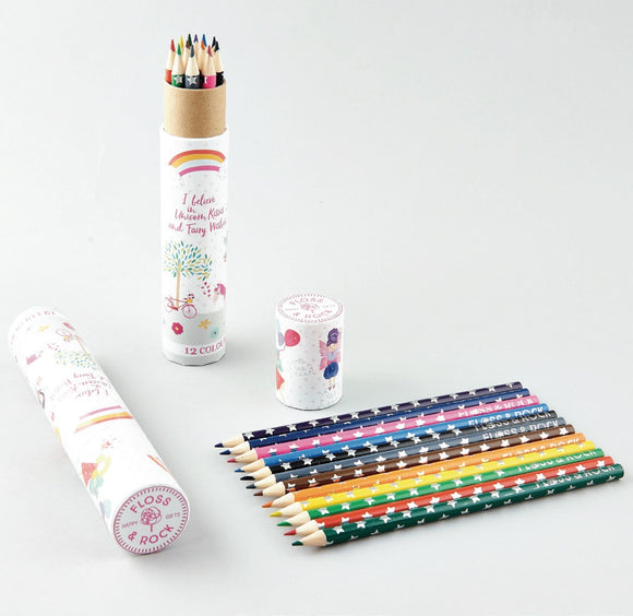 Tube of 12 Pencils - Fairy Unicorn