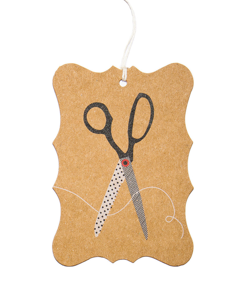 Ask Alice Gift Tag - Scissors
