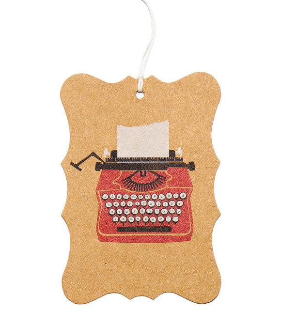 Ask Alice Gift Tag - Typewriter