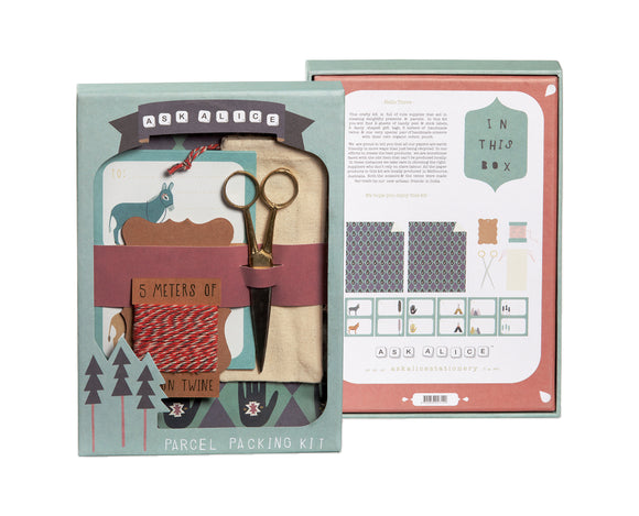 Ask Alice - parcel packing kit