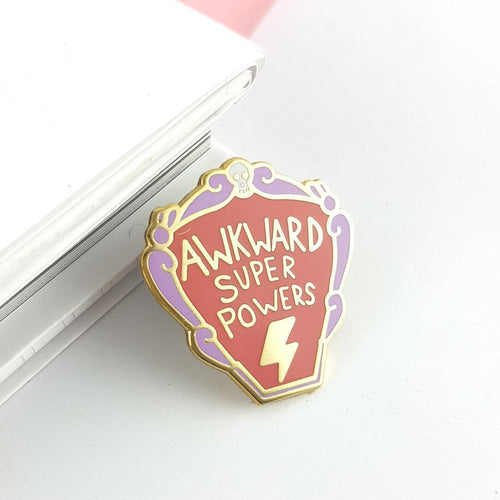 Awkward Super Powers - Lapel Pin