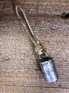 Silver Bell with Jute String