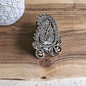 Wooden Printing Block - floral paisley
