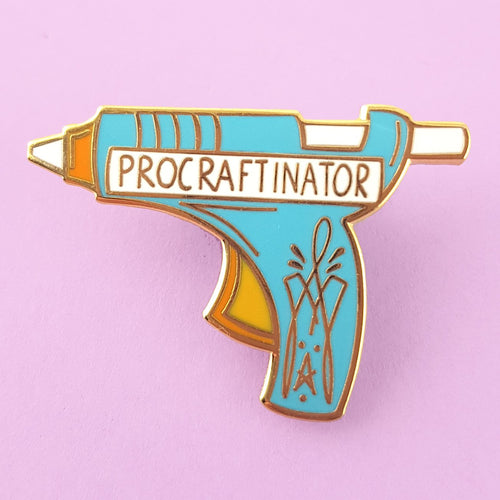Procraftinator Glue Gun - Lapel Pin