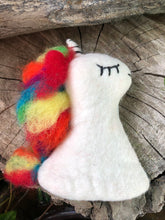 Load image into Gallery viewer, Felt Unicorn Egg Warmer (or hand puppet)